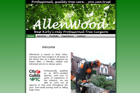 Allen-Wood website designed by Steven Malley