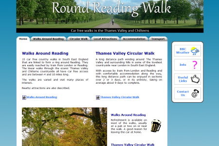 Round Reading Walk website designed by Steven Malley
